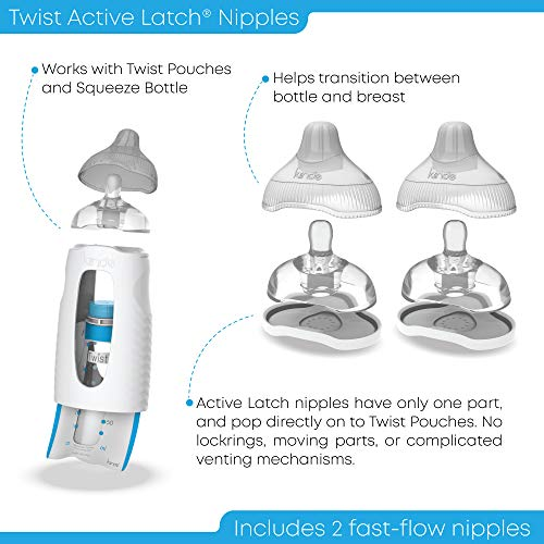 Large Product Image of Kiinde Twist Active Latch Nipple - 2 Count, Fast Flow