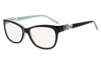 48c5935fc16 Eyekepper Womens Cat-Eye Computer Glasses-Acetate Frame Blue Light Blocking  Eyewear