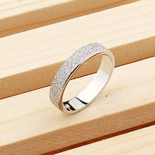 Viyino Ladies Mens 925 Sterling Silver Ring Matte For