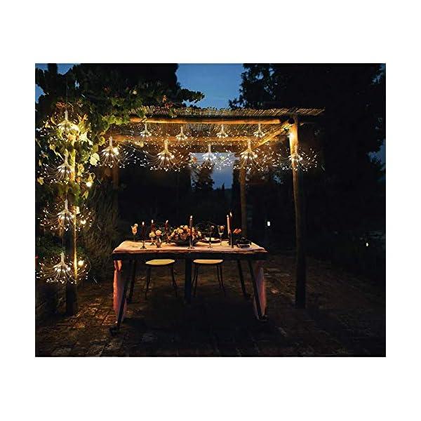 ISUDA Luci Fatate Natalizie LED Luce Fata Luce Stringa USB 5M Catena Luminosa + 3M Cavo Prolunga Decorative Giardino, Casa, Natale, Feste, Matrimonio - 4 Pezzi di 102 LED Lampadine 6 spesavip