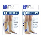 Truform Compression 20-30 mmHg Knee High Open Toe Stockings Beige, Medium - Short, 2 Count