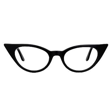 c8c5097b93 Zeelool 1960 s Retro Acetate Small Cat Eye Glasses Frame for Women Marilyn  FP0045-01