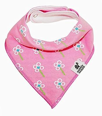 Baby Bandana Bib Premium 4 Set with Snaps for Girls. Organic Cotton. Cute Patterns