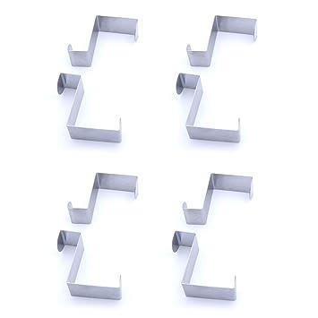 Perfect Pazzi 8 Stück über Tür Haken Aufhänger Aus Metall Edelstahl (passt 4,5cm