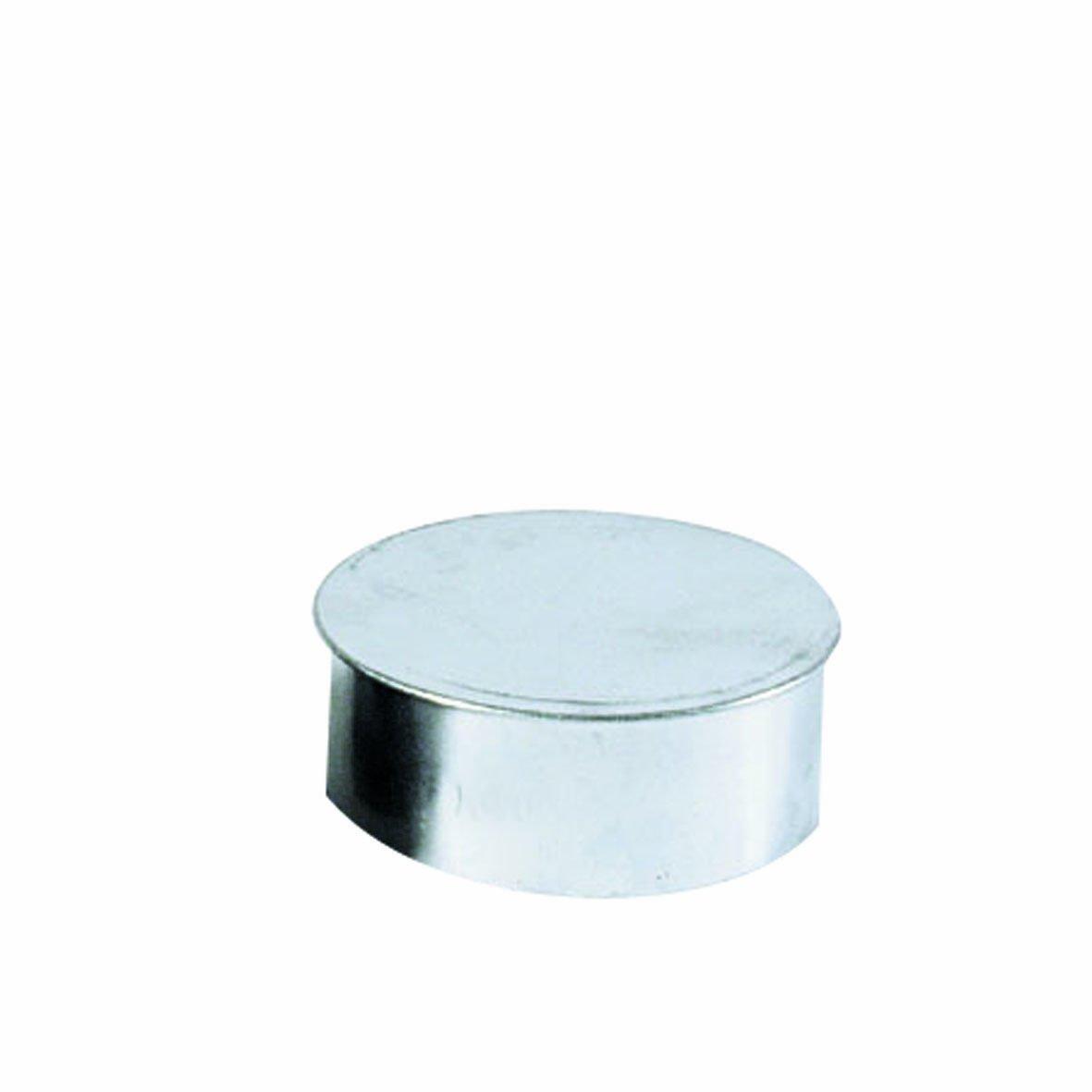 Kamino - Flam - Tapa para tubo de chimeneas, estufas y hornos de leña, Tapa para chimenea - acero con revestimiento de aluminio - Ø 120 mm - resistente a ...