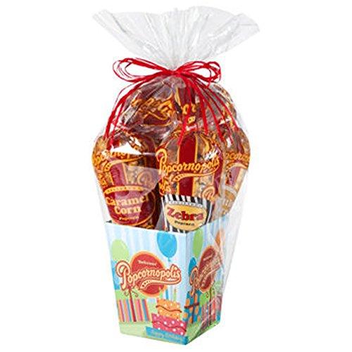 PopcornopolisR Gourmet Popcorn 5 Cone Birthday Gift Basket