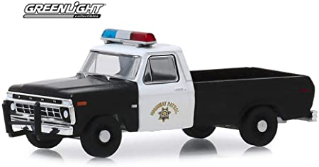 1975 Ford F-100 Pickup Truck, California Highway Patrol - Greenlight 30085/48 - 1/64 Scale Diecast Model Toy Car