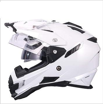 Casco De Moto Lente Doble Prueba De Sudor Ventilación Protección UV Y Antideslumbrante Casco Completo Casco