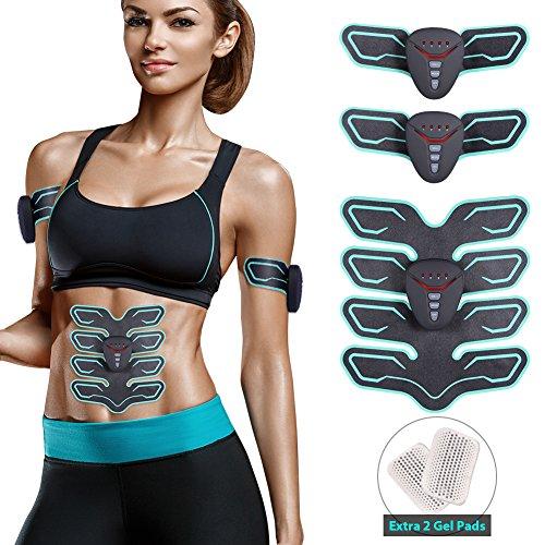 UPC 662004970941, Kearui Muscle Toner, Abdominal Toning Belt Abs Stimulator with Rhythm & Soft impulse - 6 Modes & 10 levels with Simple Operation for Abdomen/Arm/Leg/Back Training Men Women