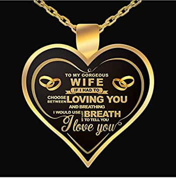 Amazon nethomenecklace perfect gift for your wife wife nethomenecklace perfect gift for your wife wife birthday gift to my gorgeous necklace negle Gallery