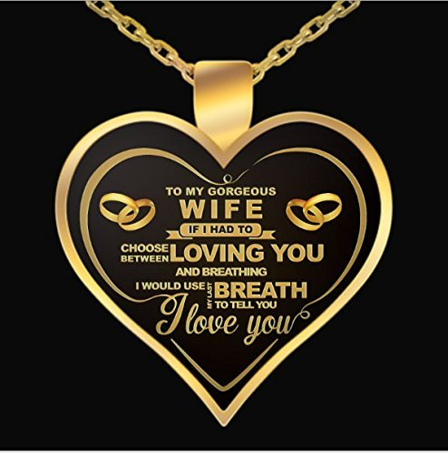 NetHomeNecklace - Perfect Gift For Your Wife - Wife birthday gift – To my Gorgeous Necklace – Wife birthday Necklace – Wife Birthday Gift – Wife Birthday Funny Shirt