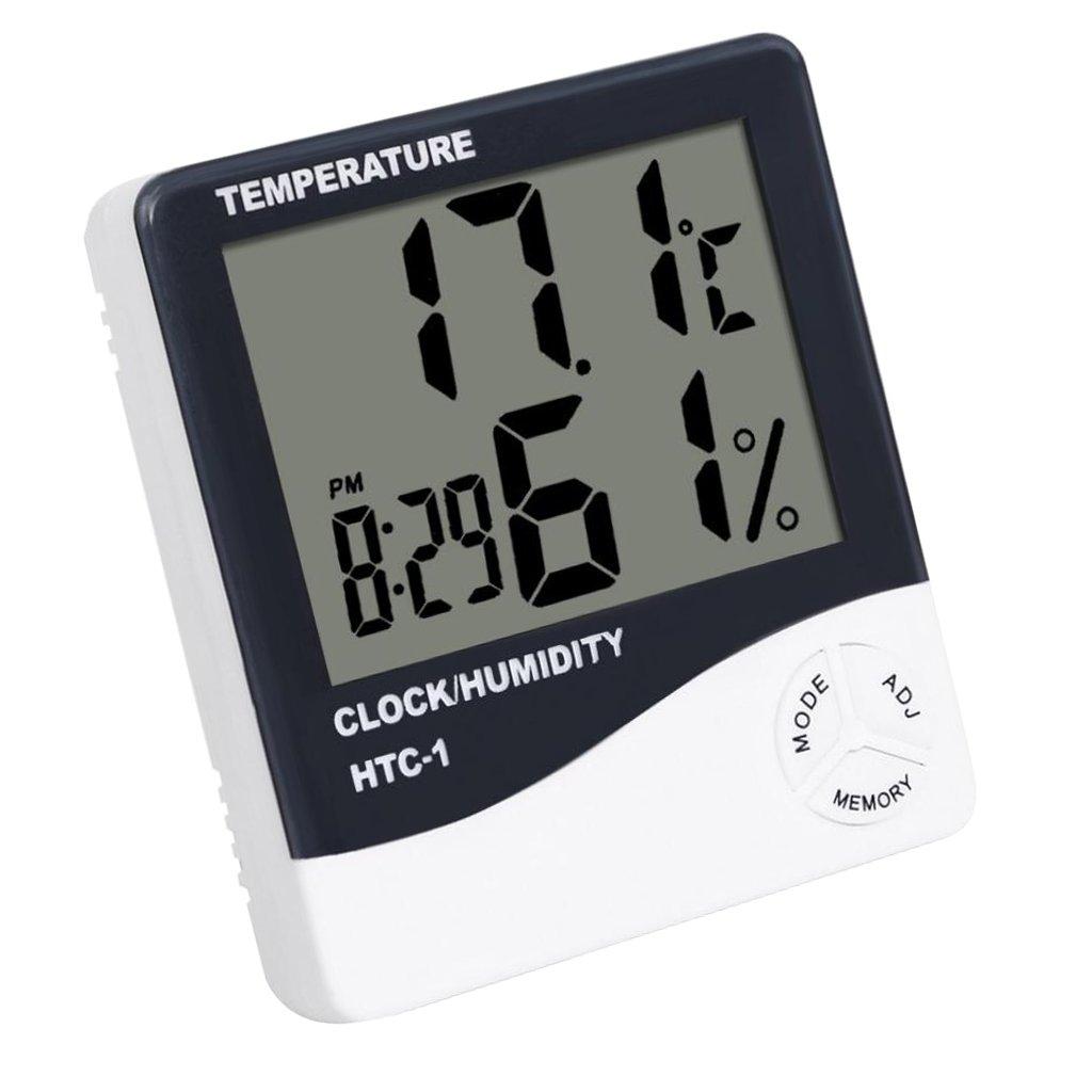 Sharplace Thermomètre Intérieur Température Numérique LCD Hygromètre Grand Écran