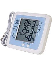 RKY igrometro temperatura, elevata precisione di temperatura display digitale igrometro termometro interno ed esterno con sonda, 128x108x19mm Meteo Termometri / - /