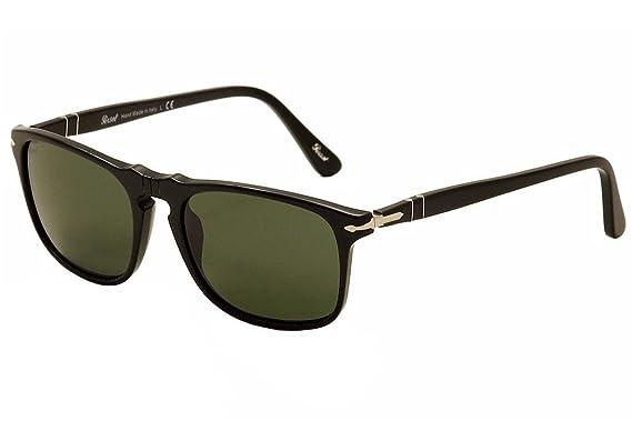 30585671c74 Amazon.com  Persol Unisex PO3059S Black Green  Persol  Clothing