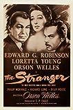 The Stranger Movie Poster (27 x 40 Inches - 69cm x 102cm) (1946) Style F -(Edward G. Robinson)(Loretta Young)(Orson Welles)(Philip Merivale)(Richard Long)