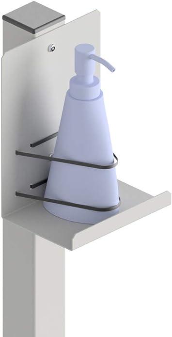 NEGRO. Avex Nicas SI Soporto para Dispensador de Pie para Gel Hidroalcoh/ólico Desinfectante de Manos Estable y Atractivo