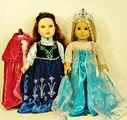 Amazon.com: Disfraces de Elsa y Anna Princesa Vestido Frozen ...