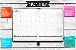 Panda Planner Weekly - Weekly Planner for Productivity & Happiness- 1 Year Planner - 8.5 x 11\
