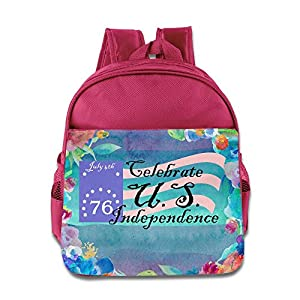 Barriory Celebrating Independence USA Flag Kids Shoulders Bag Pink