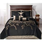 Cozy Beddings Nuit Queen Size 7-Piece Jacquard Comforter Set