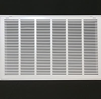 """30"""" X 20 Steel Return Air Filter Grille for 1"""" Filter - Removable Face/Door - HVAC DUCT COVER - Flat Stamped Face - [Outer Dimensions: 32.5""""w X 22.5""""h]"""