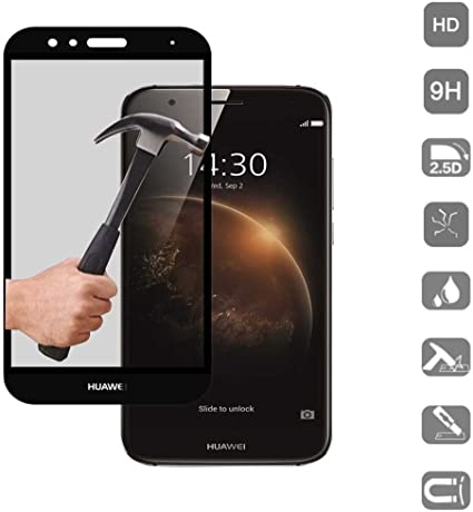 Protector de Cristal Tempado Compatible con Huawei G8 / GX8 Negro ...