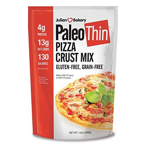 Julian Bakery | Paleo Thin | Pizza Mix | Easy To make | Grain-Free | Gluten-Free | Lower In Carbs | Makes Two 10
