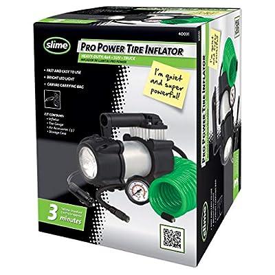 Slime Pro Power Heavy-Duty 12-Volt Tire Inflator: Automotive