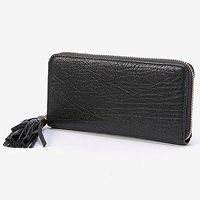 9600b32a3471 Amazon | ペルケ(perche') 財布(厚口シープタッセル付きラウンド ...