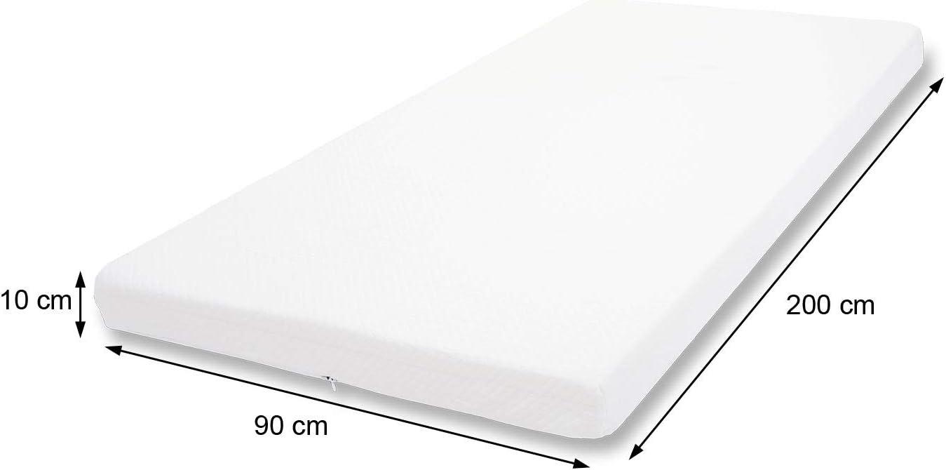 Matratzenauflage 180x200cm B-Ware 10cm Kaltschaum-Matratzentopper MCW-E63