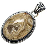 "Ana Silver Co Crazy Lace Agate 925 Sterling Silver Pendant 1 1/2"" - Handmade Fashion Gemstone Jewelry PD586873"