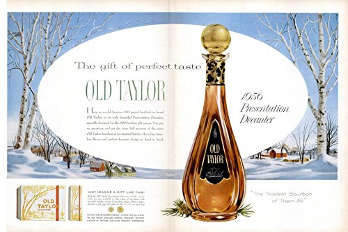 ORIGINAL *PRINT AD* 1956 OLD TAYLOR BOURBON WHISKEY