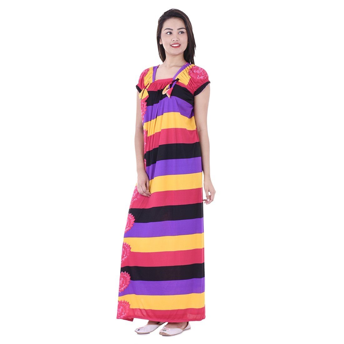 Indian Handicraft Womens Cotton Maxi Nighty Gwn_07 Multicolour Free Size Amazon In Clothing Accessories