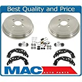 Mac Auto Parts 145590 Rear Brake Drums Brake Shoes Hardware Kit & Wheel Cylinders For Toyota