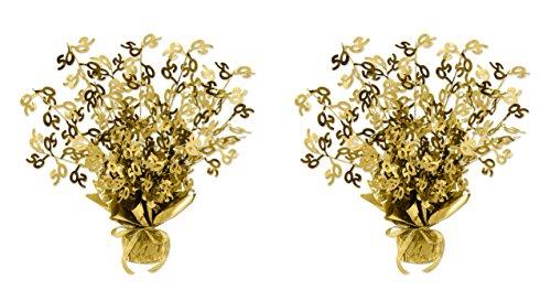 Beistle S54280-GDAZ2 50 Gleam 'N Burst Centerpiece 2 Piece Gold