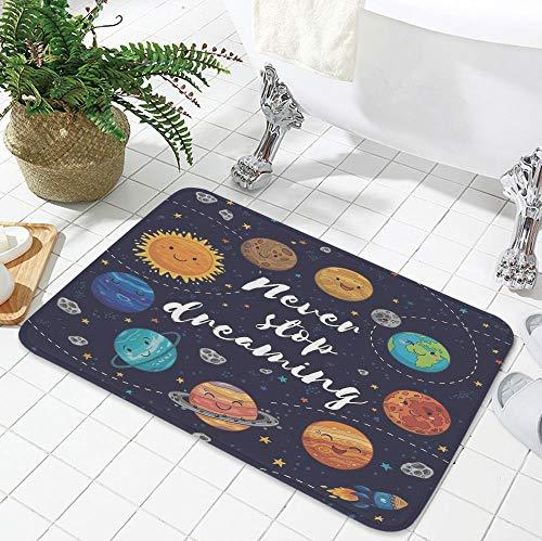 YOLIYANA Custom Carpet,Quote,for Children Bedroom Corridor,23.62