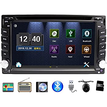 universal car stereo with navigation eunavi 6 2 inch in dash 2 din car gps touch. Black Bedroom Furniture Sets. Home Design Ideas