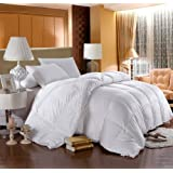 Egyptian Bedding LUXURIOUS 800 Thread Count HUNGARIAN GOOSE DOWN Comforter - Full / Queen Size, 750 Fill Power, 50 oz Fill Weight, 100% Egyptian Cotton Cover