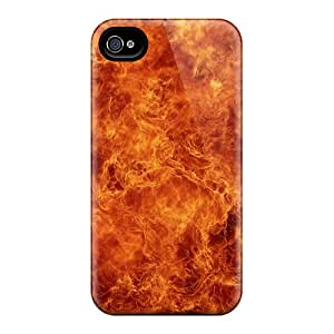 Flexible Tpu Back Case Cover For Iphone 4/4s - Fire