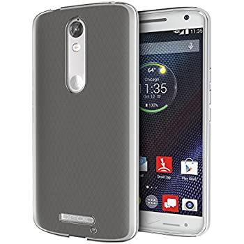 DROID Turbo 2 Case, Cimo [Grip] Premium Slim TPU Flexible Soft Case for Motorola Verizon DROID Turbo 2 / Moto X Force (2015) - Frosted Clear