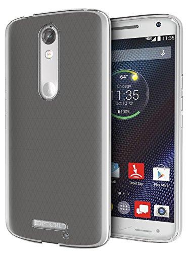 DROID Turbo 2 Case, Cimo [Grip] Premium Slim TPU Flexible Soft Case for Motorola Verizon DROID Turbo 2 / Moto X Force (2015) - Frosted Clear