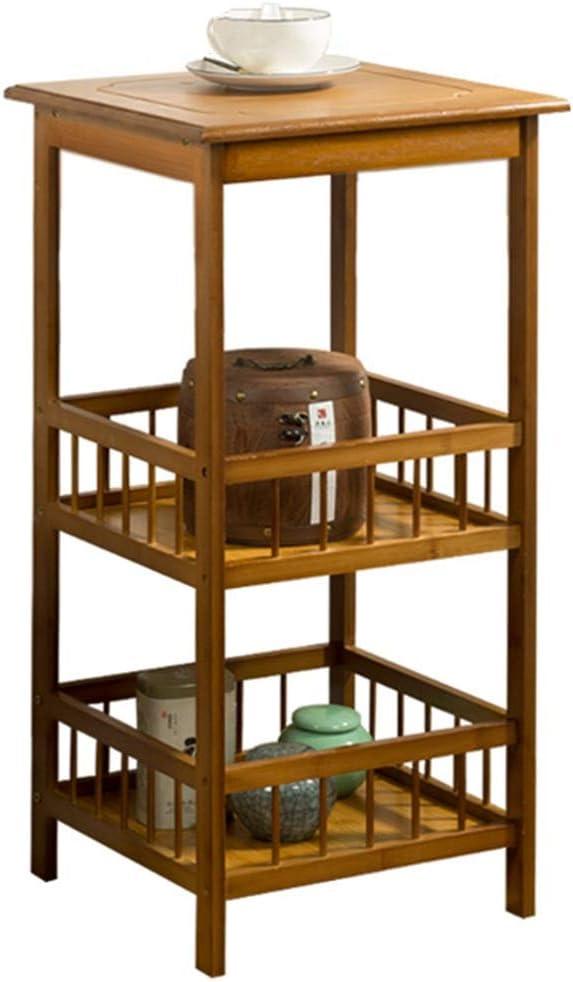 Mesa auxiliar Mesa Auxiliar Salon,Tambor Mesita, Multiusos Esquina Mesa, Mesilla De Esquina Con Cajones, Salón Sofá Gabinete Lateral Esquina Mesa De Café ( Color : Brown , Size : 80*33*33CM )