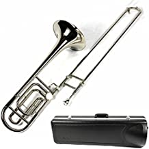 Brand New Bb/F Tenor Trombone w/ Case and Mouthpiece- Nickel Plated Finish
