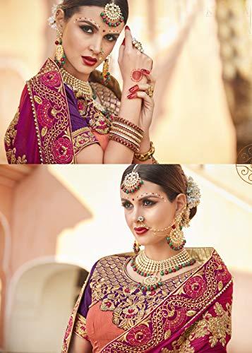SariMulticolore Indian Designer Party For Wear Traditional Sarees Facioun Women Da HDI2E9