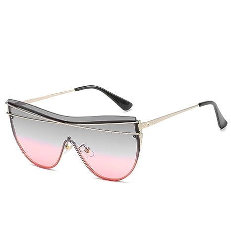 WYJW Señoras y Hombres Moda Sombras Gafas de Sol de Gran ...