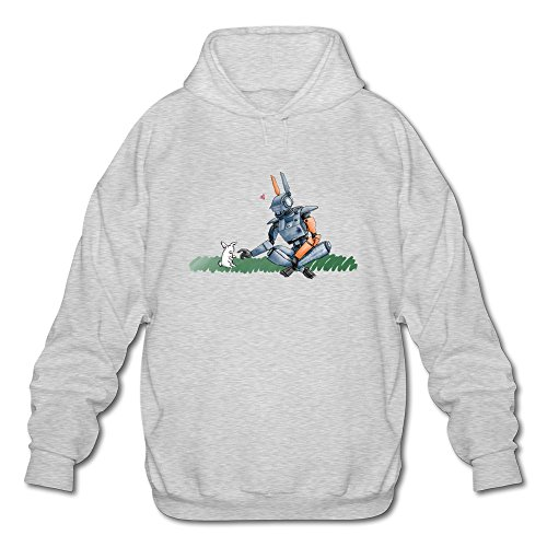 AOPO Chappie 2015 Film Men's Long Sleeve Hooded Sweatshirt / Hoodie XX-Large Ash