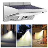 Solar Motion Sensor Light Outdoor, iThird 21 LED Solar Powered Security Lights for Yard Patio Garage Waterproof 3 Modes Super Bright(Warm White)