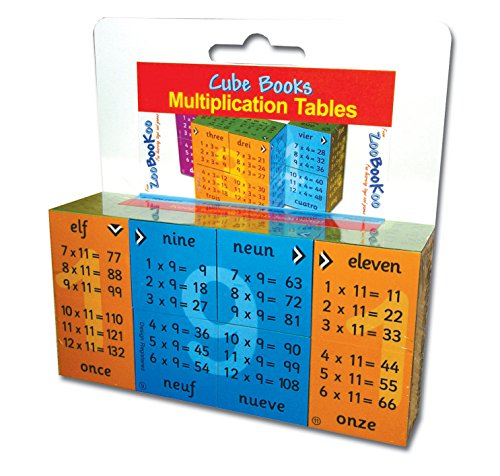 ZooBooKoo Educational Multiplication Tables Cube - Times ...