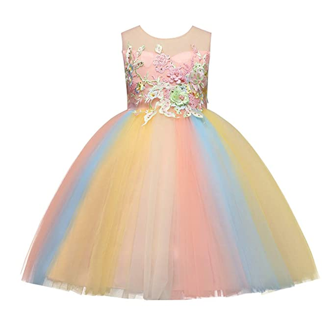 Amazon.com: KKYT Hot! Bebé Niñas Vestidos de princesa, Niños ...