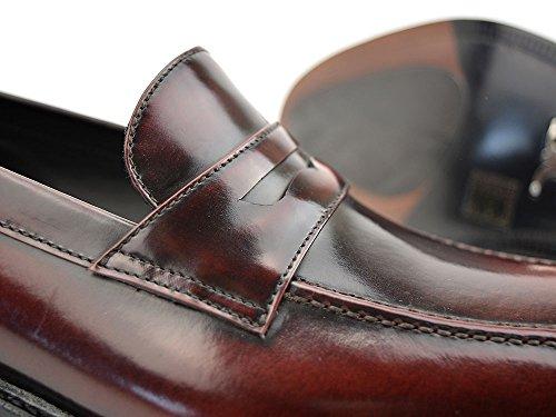 DIS Uliassi - Mocassino Rosso Abrasivato con Fascetta Mocassino personalizzato rosso abrasivato con fascetta, fatto a mano e su misura, made in Italy.